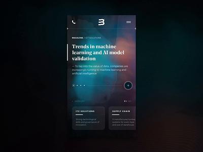 Mobile Demo Animation branding product typography website machinelearning ux b2b digital glitch liquid abstract minimal app mobile ui