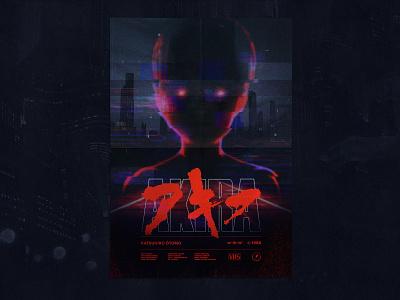 1988 · Akira Tribute Poster analog glitch art vaporwave urban tribute punk poster sci-fi manga japan glitch post atomic cyberpunk blade runner anime akira