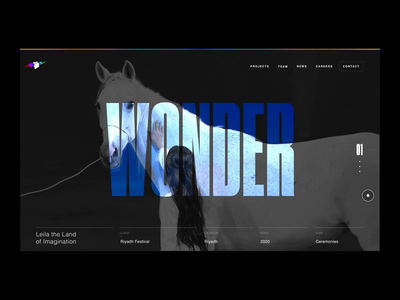 Immersive Homepage - One Company / Balich dark video stage international inclusivity rainbow institutional istitutional minimal typography events branding motion graphics