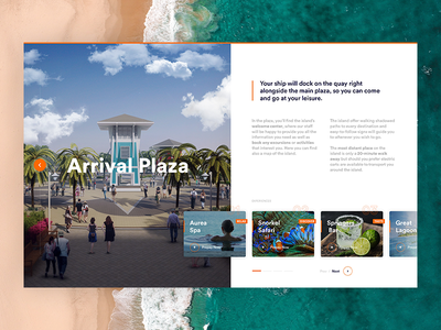 Virtual Tour - Ocean Cay virtual tour tour web website abstract typography ux shop ui sport product minimal design
