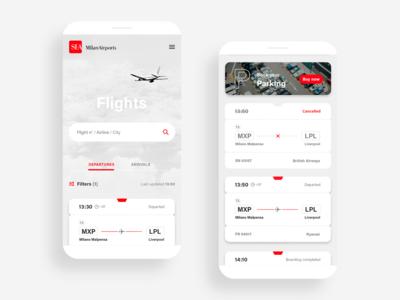 Milan Airports ✈ Flights · Mobile
