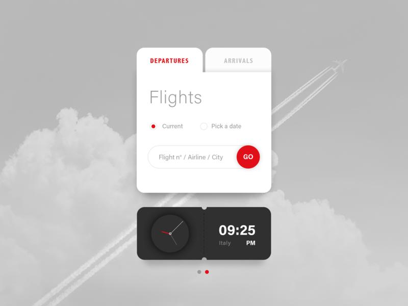 Departures / Arrivals - Widget