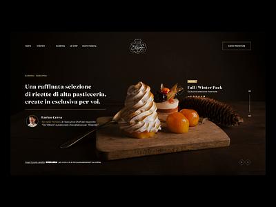 Elisenda - Artisan Confectionery confectionery pastry chocolate webdesign web food cake backery bake ui ux shop product typography minimal