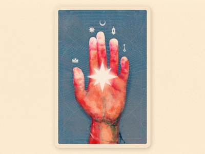 The Hand of the Mysteries supernatural black hand drawn key star magic mistery film dust brush doom taroth card illustration paint hand alchemy