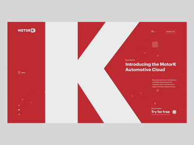 MotorK - Home intro about interface website motor vector design ui typography minimal animation