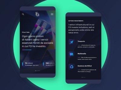 F2i . home / mobile institutional crystal icon flatdesign governance investments finance web-application dark app dark ui typography vector branding ux abstract product minimal business ui mobile