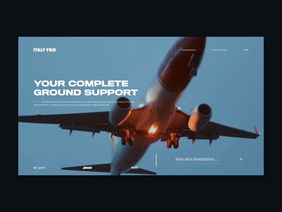 Italy  ✈  FBO soft touch realtime soft travel app traking traker interface ui animation video background video minimal italy booking flyght service design airplane airport