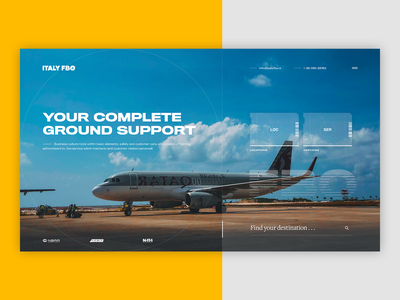 Italy ✈ FBO - Home services locations support destinations airports airport transparent light flat design private flight italy tracker tracking airplane abstract typography ui minimal flights fly