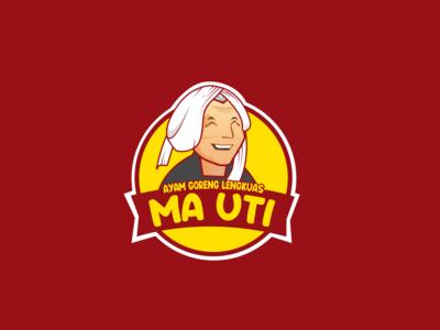 Indonesian chicken restaurant logo type art illustrator flat vector design logo illustration branding