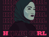 HIJABI GIRL typography type animation illustrator flat art vector illustration design