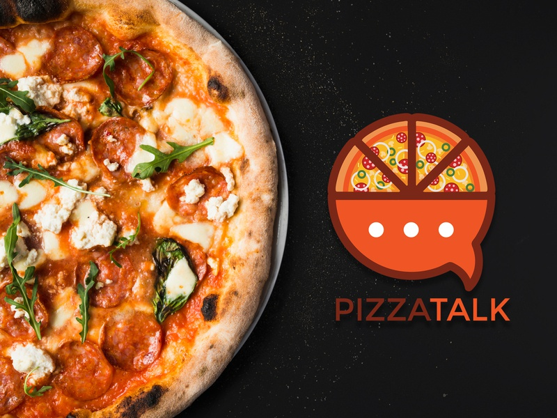 PizzaTalk logodesign logo