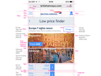 Mobile web UI Markup