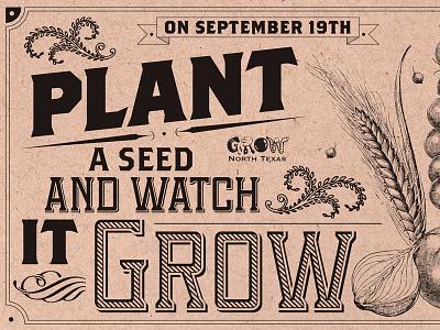 GNTX postcard typography environmental non-profit graphic design