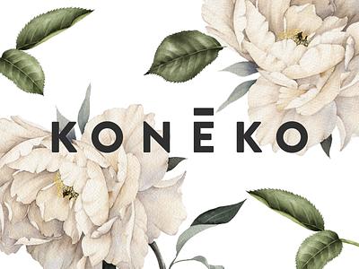 Koneko - Branding & Logo Design flowers design logo branding