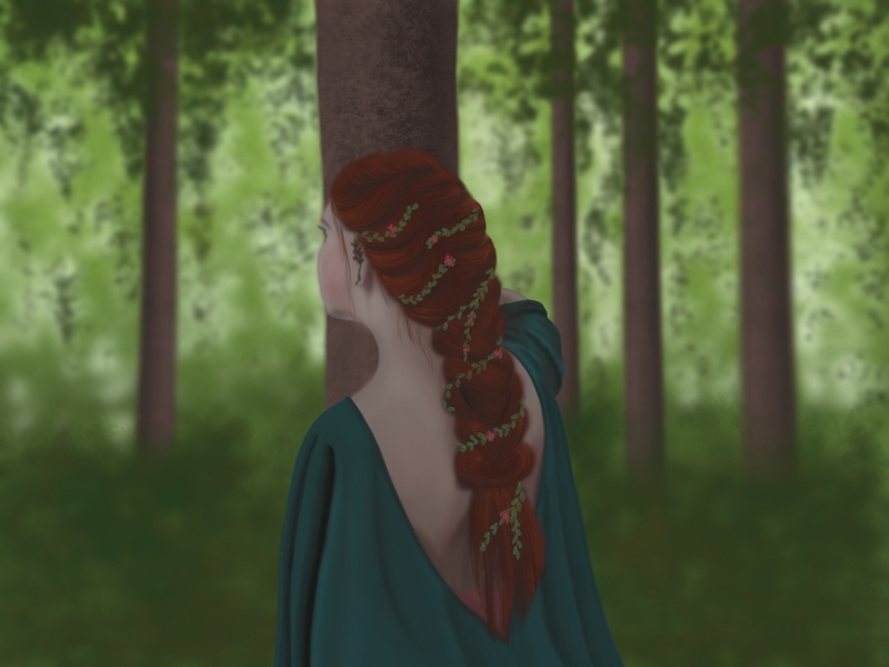 Forest Princess princess forest sketch procreate procreate app illustration
