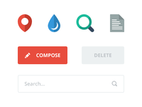 Flat Elements flat simple button psd icon