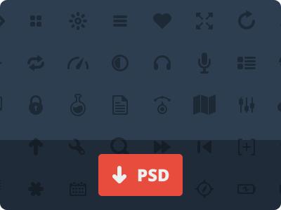 50 Glyphs [PSD] psd icon glyphs freebie