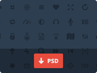 50 Glyphs [PSD]