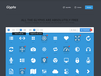 Glyphs site glyphs site preview