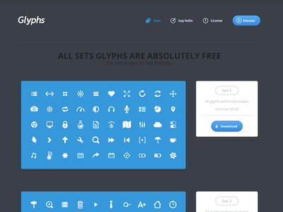 Sets glyphs site set glyphs site
