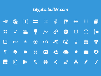 50 glyphs [PSD] set 4