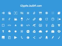 50 glyphs [PSD] set 4