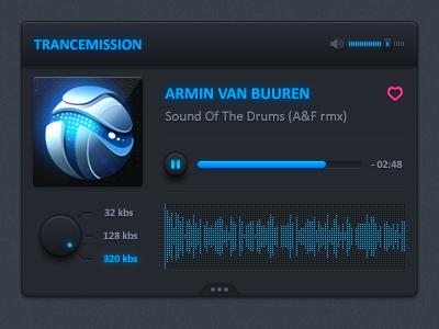 Radio record widget radio music visualizer sound trance record play pause song