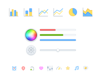 Glyphs icons, color picker