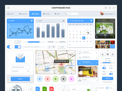 Chappyboard pack dashboard pack kit ui psd