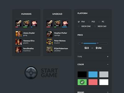 Battle & Filter battle filter button teams