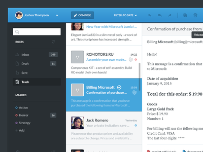 Mail client mail app client email flat