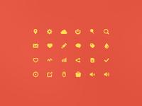 Yellow icon (15x15) PSD