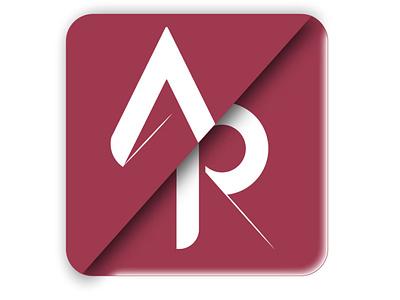 AR letter logo typography logo