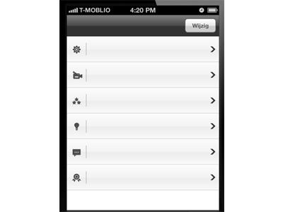 Settings Screen Iphone custom navigation icons moblio.nl moblio iphone apple ui interface lyan van furth
