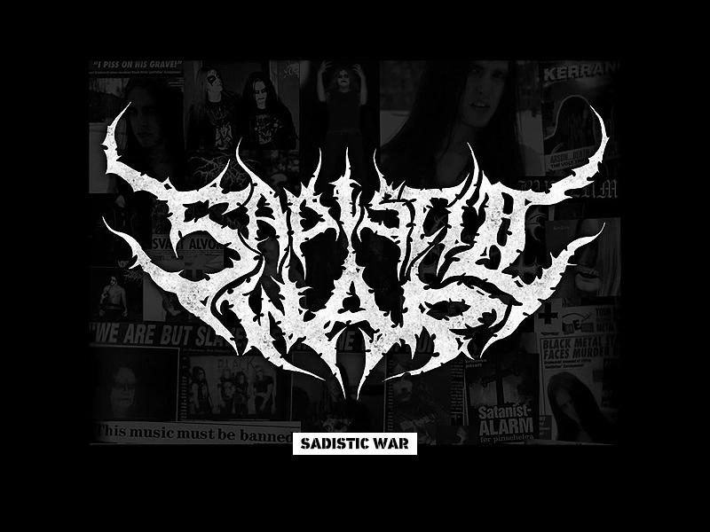 Sadistic War Black Metal Logo