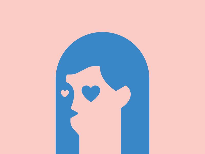 02 - 14 - 2020 illustration logo branding icon shape geometry heart love valentine valentine day