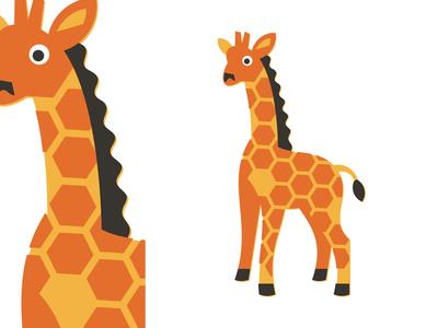 Giraffe illustration icon geometry branding zoo wildlife wild animal giraffe