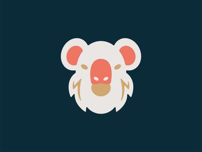 Koala illustration icon shape geometry australia wild animal ears eyes nose bear koala