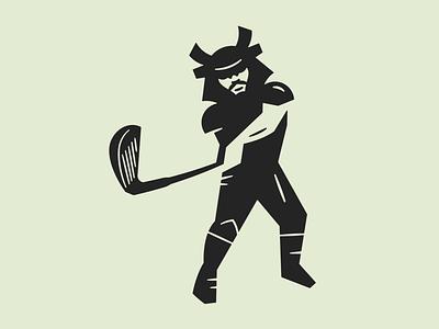 Par Warrior illustration graphic design logo branding icon shapes geometry golf clubs golf iron warrior samurai mizuno