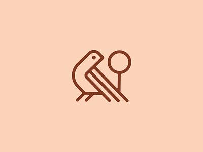 Birdie illustration graphic design logo branding icon shapes geometry golf clubs golf under par tee ball birdie
