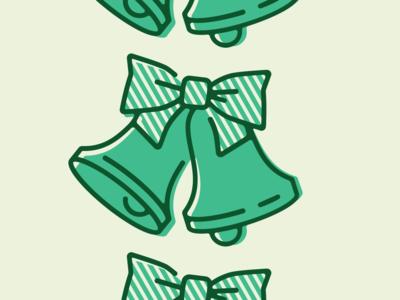 Bells illustration graphic design logo branding shapes geometry line diner restaurant bow bells holiday
