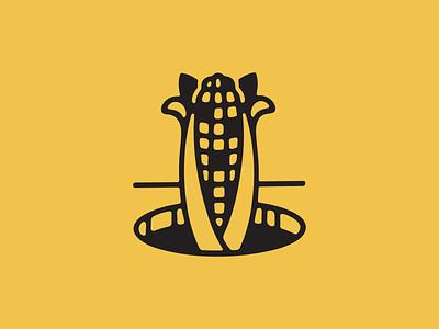 Cornhole illustration icon line cornhole