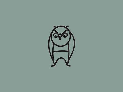 Owl line illustration owl