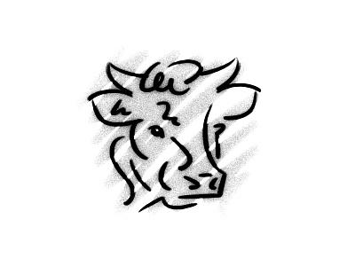 Bull illustration texture line bull