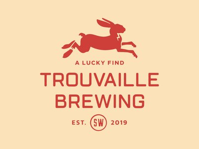 Trouvaille Brewing branding animal logo icon illustration craft beer beer brewing