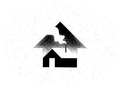 Home illustration texture housing arrow smoke chimney house home
