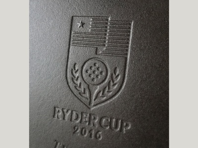 Ryder Cup illustration icon logo frying pan pan cast iron badge golf ryder cup