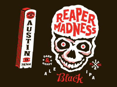Reaper Madness madness reaper packaging design independence cans