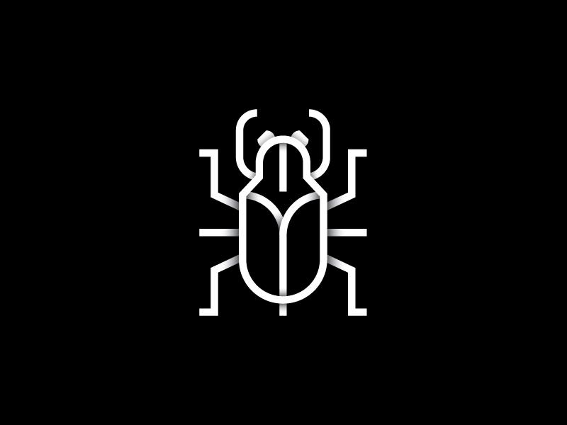 Bug line white black bug