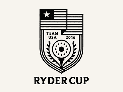 Ryder Cup Badge ball tee golf 2016 usa team cast iron pan cup ryder